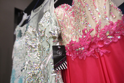 Candace H. Johnson-For Shaw Media 200 prom dresses were donated by Gipper Formal for girls to choose from at the Prom Shoppe in the Wauconda Area Library. (3/23/19)
