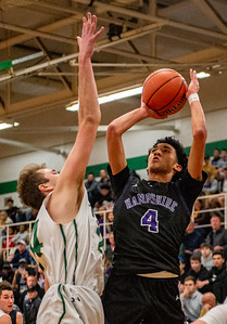 Hampshire's Jeremy Rosa, Jr., puts up a shot during the second quarter of the Class 3A Boylan Sectional semifinal game in Rockford on Wednesday, Mar. 11, 2020. Randy Stukenberg for Shaw Media.
