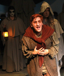 Candace H. Johnson-For Shaw Media Quasimodo (Sam Krischak) sings in the finale during the Green Room Theatre Company's Hunchback of Notre Dame at Grayslake North High School. The show will run on March 12, 13, and 14th, at 7:00 pm. and March 15th, at 2 pm. (3/7/20)