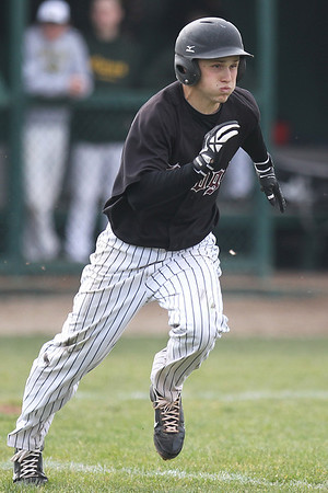 Mike Greene - mgreene@shawmedia.com Prairie Ridge's Mike Reitcheck hustles to first base while trying to beat out an infield single against Crystal Lake South during a game Tuesday, May 1, 2012 in Crystal Lake. Crystal Lake South won the game 2-0.