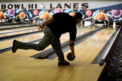 Sarah Nader - snader@shawmedia.com Mike O'Halleran of McHenry takes his turn bowling during team tournament at Bowl-Hi Lanes in Huntley on Wednesday, May 9, 2012.