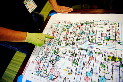 Daniel J. Murphy - dmurphy@shawmedia.com  Pam Fender displays the final landscape plan for Green Trees Apartment Complex in Huntley.