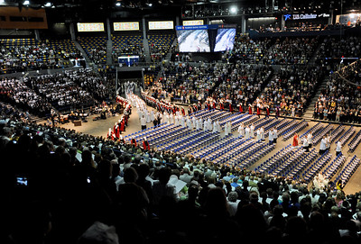 Sarah Nader - snader@shawmedia.com The processional enters during the Episcopal Ordination and Installation of Rev. Monsignor David Malloy as the Ninth Bishop of Rockford at the BMO Harris Bank Center in Rockford on Monday, May 14, 2012.