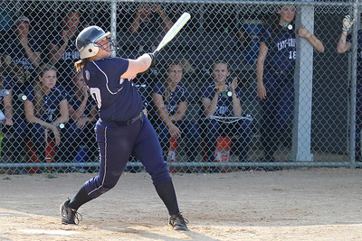 Mike Greene - mgreene@shawmedia.com Cary-Grove's Lindsay Efflandt watches her hit fly in the air during a game against Prairie Ridge Monday, May 14, 2012 in Cary. Efflandt hit a double off the fence on the swing. Cary-Grove won the game 1-0.