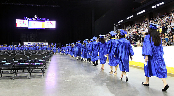 Jeff Krage – For the Northwest Herald The Dundee-Crown High School processional during Saturday's graduation ceremonies at the Sears Centre. Hoffman Estates 5/19/12