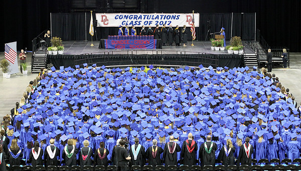 Jeff Krage – For the Northwest Herald The Dundee-Crown High School class of 2012 during Saturday's graduation ceremonies at the Sears Centre. Hoffman Estates 5/19/12