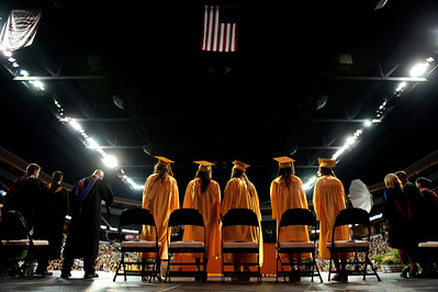 Daniel J. Murphy - dmurphy@shawmedia.com  Graduates and administrators take to the stage during the Jacobs High School Commencement Saturday May 19, 2012 at the Sears Centre Arena in Hoffman Estates.
