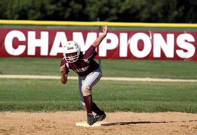 Sarah Nader - snader@shawmedia.com Marengo's Bethany Hart runs to third during Monday's home game against Cary-Grove on May, 21, 2012. Marengo won, 1-0.
