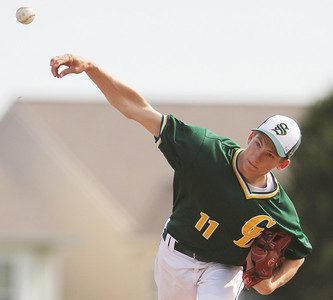 Mike Greene - mgreene@shawmedia.com Crystal Lake South's Tyler Hall pitches against Dundee-Crown during the Class 4A Regional Semifinals Wednesday, May 23, 2012 in Huntley. Crystal Lake South won the game 12-2 to advance to the finals against Cary-Grove Saturday.