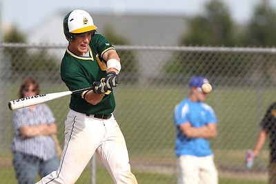 Mike Greene - mgreene@shawmedia.com Crystal Lake South's Tyler Salm swings at a pitch during the Class 4A Regional Semifinals against Dundee-Crown Wednesday, May 23, 2012 in Huntley. Salm went 2-3, scoring three runs in Crystal Lake South's 12-2 victory to advance to the finals against Cary-Grove Saturday.