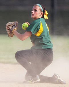 Mike Greene - mgreene@shawmedia.com Crystal Lake South's Kim McElman comes up with the ball after making a diving stop during the Class 4A Regional Semifinals against Jacobs Wednesday, May 23, 2012 in Huntley. Jacobs won the game 4-0 to advance to the regional finals Saturday.