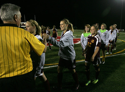 H. Rick Bamman - hbamman@shawmedia.com Richmond-Burton soccer team members thanks the officials.