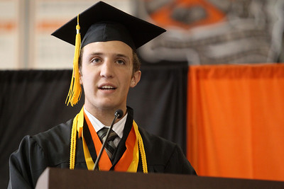 Mike Greene - mgreene@shawmedia.com Crystal Lake Central Valedictorian Stuart Streit speaks during commencement ceremonies for Crystal Lake Central Saturday, May 26, 2012 in Crystal Lake.