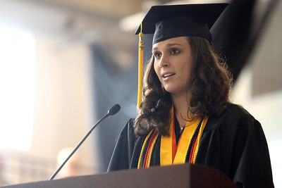 Mike Greene - mgreene@shawmedia.com Crystal Lake Central Salutatorian Michelle Wilson speaks during commencement ceremonies for Crystal Lake Central Saturday, May 26, 2012 in Crystal Lake.