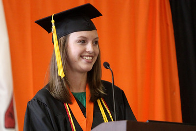 Mike Greene - mgreene@shawmedia.com Kayla Heyn smiles while giving a welcome address to classmates during commencement ceremonies for Crystal Lake Central Saturday, May 26, 2012 in Crystal Lake.