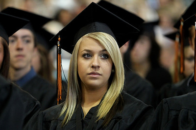 Mike Greene - mgreene@shawmedia.com Courtney Basich listens to the salutatorian's address during commencement ceremonies for Crystal Lake Central Saturday, May 26, 2012 in Crystal Lake.