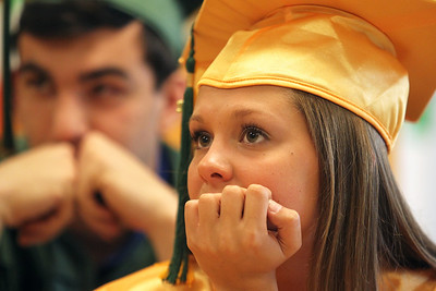 Mike Greene - mgreene@shawmedia.com Michelle Babcock waits for commencement ceremonies for Crystal Lake South to begin Saturday, May 26, 2012 in Crystal Lake.