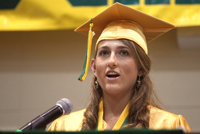 Mike Greene - mgreene@shawmedia.com Elizabeth Starck gives a welcome address to classmates during commencement ceremonies for Crystal Lake South Saturday, May 26, 2012 in Crystal Lake.
