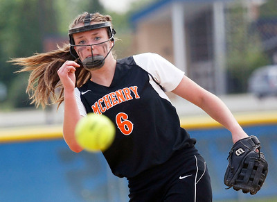 Candace H. Johnson – Shaw Suburban Media McHenry's Kristin Koepke delivers a pitch against Warren in the fourth inning during the Class 4A Regional final at Warren Township High School in Gurnee.