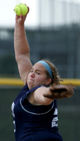 H. Rick Bamman - hbamman@shawmedia.com Cary Grove pitcher Lindsay Efflandt in the first inning of the IHSA Class 4A Huntley regional softball game Saturday morning.
