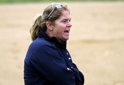 H. Rick Bamman - hbamman@shawmedia.com Cary Grove coach Tammy Olson shouts encouragment to the batter in the first inning of the IHSA Class 4A Huntley regional softball game.