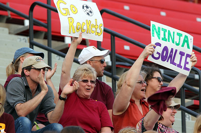 H. Rick Bamman - hbamman@shawmedia.com Richmond-Burton fans cheer from the stands at North Central College Benedetti-Wehrli Stadium in Naperville.