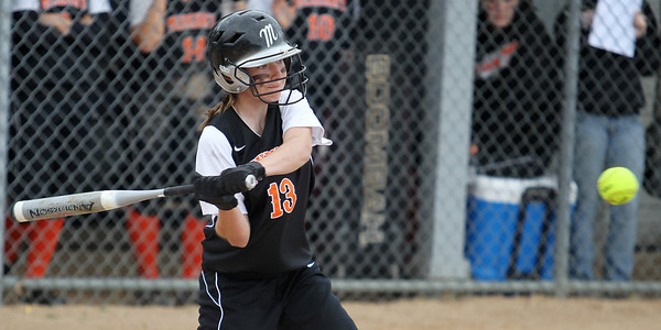 Mike Greene - mgreene@shawmedia.com McHenry's Carly Mattson swings at a pitch during the Class 4A Cary-Grove Sectional semifinals against Carmel Wednesday, May 30, 2012 in Cary. Carmel won the game 9-8.