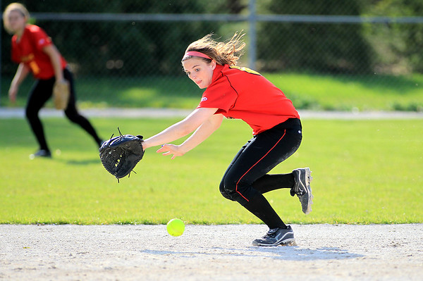 Batavia's Erin Costigan goes after a ground ball during their 3-0 home game win over Geneva Wednesday.