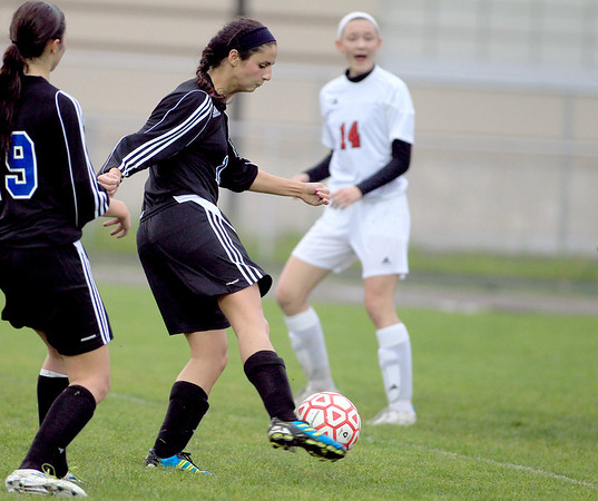 Geneva's Molly Axen scores their third goal of the game at Batavia Tuesday.