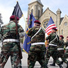 Jeff Krage – For Shaw Media<br /> Veterans march past the Eastside Community Center during Sunday's Loyalty Day parade.<br /> Batavia 5/5/13