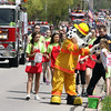 Jeff Krage – For Shaw Media<br /> Sparky greets children during Sunday's Loyalty Day parade.<br /> Batavia 5/5/13
