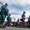 Hix Bros. Music marching guitar band performs during Sunday's Loyalty Day parade.<br /> Batavia 5/5/13