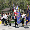 Jeff Krage – For Shaw Media<br /> Batavia VFW Post 1197 members lead Sunday's Loyalty Day parade as it heads west of Wilson.<br /> Batavia 5/5/13