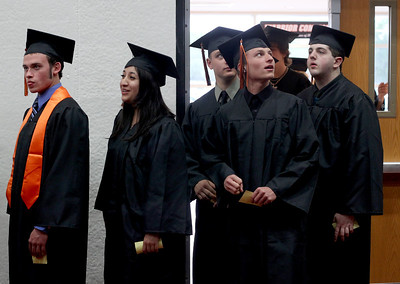 Sarah Nader - snader@shawmedia.com Students walk into the gym during McHenry West High School's Commencement on Wednesday, May 15, 2013.