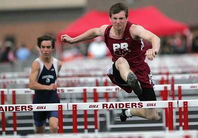 Kyle Grillot - kgrillot@shawmedia.com   Prairie Ridge senior Alex Koss competes in the boys 110-meter hurdles event during the class 3A sectional at Huntley high school Friday, May 17, 2013.