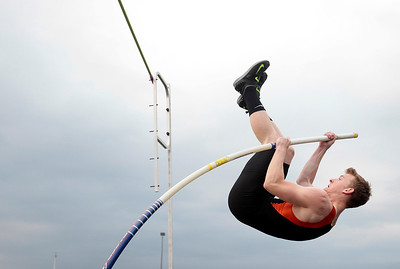 Kyle Grillot - kgrillot@shawmedia.com   McHenry senior Will Ford competes in the boys pole vault event during the class 3A sectional at Huntley high school Friday, May 17, 2013.