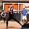 Haley Beno of St. Charles East pitches during a home game against St. Charles North Tuesday.