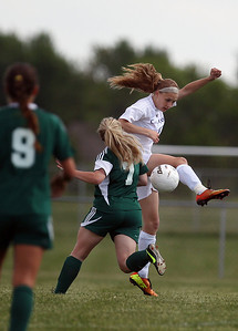 Sarah Nader - snader@shawmedia.com Cary-Grove's Candace Cunningham stops the ball during the first half of Tuesday's Regional game against Rockford Boylan in Algonquin on May 21, 2013. Cary-Grove lost, 3-0.