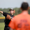 Kaneland pitcher John Hopkins practices with his team Monday afternoon.