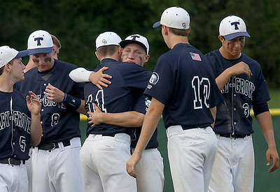 Sarah Nader - snader@shawmedia.com The Cary-Grove baseball team hug each other after losing against Barrington during Wednesday's Class 4A Jacobs Regional in Cary on May 22, 2013. Cary-Grove lost. 5-6.