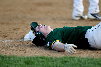 Sarah Nader - snader@shawmedia.com Crystal Lake South's Troy Bittenbender is safe at third base during the fifth inning of Thursday's Class 4A Jacobs Regional against Jacobs in Algonquin on May 23, 2013. Jacobs won, 8-5.