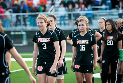 Kyle Grillot - kgrillot@shawmedia.com   The Freeport team heads off the field after losing to Prairie Ridge in the Class 2A Sectional at Freeport High School.