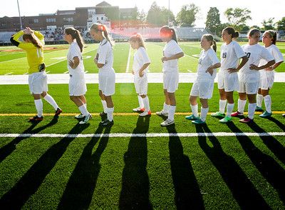 Kyle Grillot - kgrillot@shawmedia.com    The Prairie Ridge team takes the field before the start of the Class 2A Sectional at Freeport High School.
