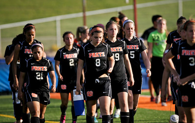 Kyle Grillot - kgrillot@shawmedia.com   The Freeport team heads back to the field after half time during the Class 2A Sectional at Freeport High School.