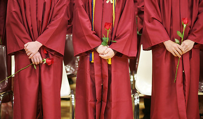 Kyle Grillot - kgrillot@shawmedia.com   Graduates wait for the start of the Richmond-Burton Community High School commencement on Sunday, May 26, 2013.