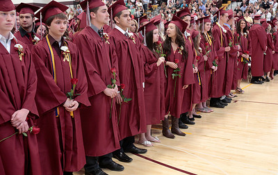 Kyle Grillot - kgrillot@shawmedia.com   Graduates take to their seats during the Richmond-Burton Community High School commencement on Sunday, May 26, 2013.