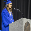 St. Charles North's Student Body president Olivia Cesarone talks to fellow graduates during commencement at Sears Centre in Hoffman Estates, IL on Sunday, May 26, 2013 (Sean King for Shaw Media)
