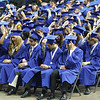 Graduates move their tassels to the right during commencement at Sears Centre in Hoffman Estates, IL on Sunday, May 26, 2013 (Sean King for Shaw Media)