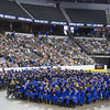 Graduates throw their hats in the air during commencement at Sears Centre in Hoffman Estates, IL on Sunday, May 26, 2013 (Sean King for Shaw Media)