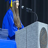 "Valedictorian Elle Murata encourages her fellow graduates to ""Embrace change and make the best of it."" during commencement at Sears Centre in Hoffman Estates, IL on Sunday, May 26, 2013 (Sean King for Shaw Media)"